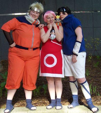 Cosplay Arte Naruto Sasuke E Sakura Cosplay