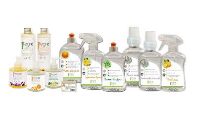 Nuova linea AllegroNatura detergenti casa super-concentrati e cosmesi naturale