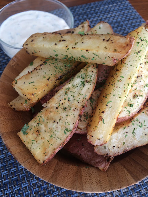 Recipe:  Side Dish, Recipe:  Vegetable, Baked Potato Fries, Homemade Fries, Baked Crispy Ranch Potato Fries, Deals to Meals