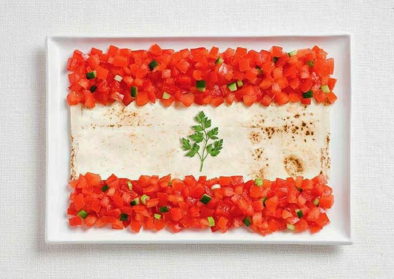 Lebanon - Lavash, fattoush, herb spring