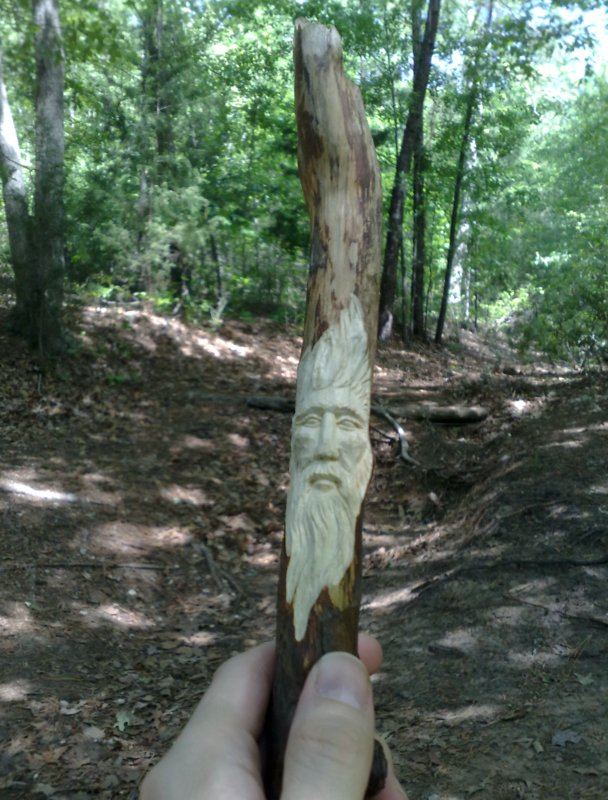 Texaswoodcarving whittling in the woods