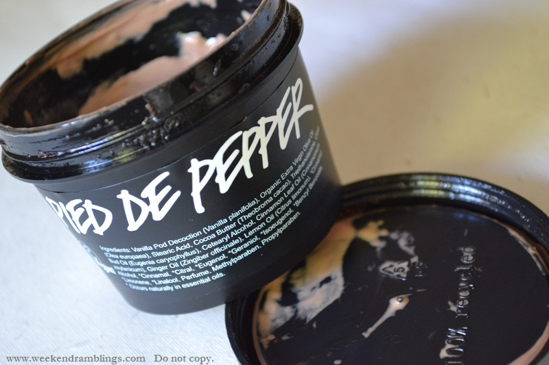 lush pied de pepper foot lotion cream moisturizer reviews ingredients