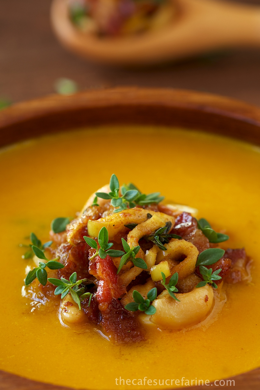 Coconut Curry Carrot & Apple Soup w/ Bacon, Granny Smith Apple ...