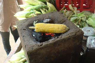 Corn roasted