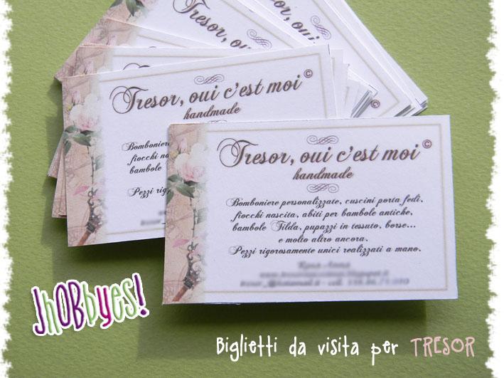 Célèbre Biglietti da visita per Tresor | JhOBbyes - Creazioni Handmade  RW36