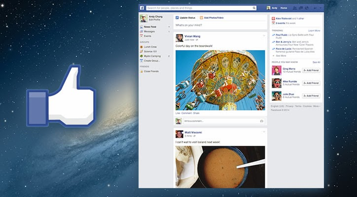 FACEBOOK CAMBIA LOOK CON I NEWS FEED