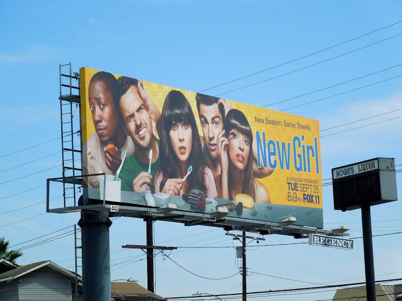 New Girl season 2 billboard