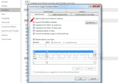 Cara Menonaktifkan Auto Correct Options Office 2016 2