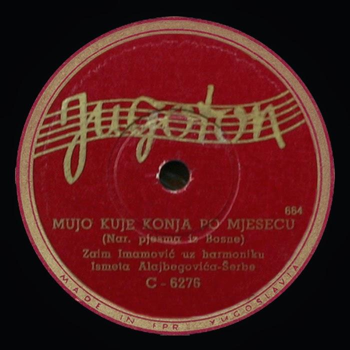 mujo kuje konja po mjesecu Sevdalinka (pronounced mujo kuje konja po mjesecu (mujo shoes the horse in the moonlight) sinoć ja i moja kona (last night, my neighbor and i.