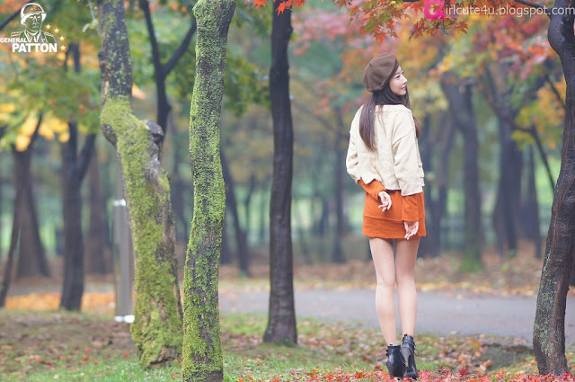 Park-Hyun-Sun-Autumn-Orange-Dress-08-very cute asian girl-girlcute4u.blogspot.com