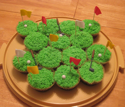 Golf Themed Cheesecake Brownie Cupcakes 2