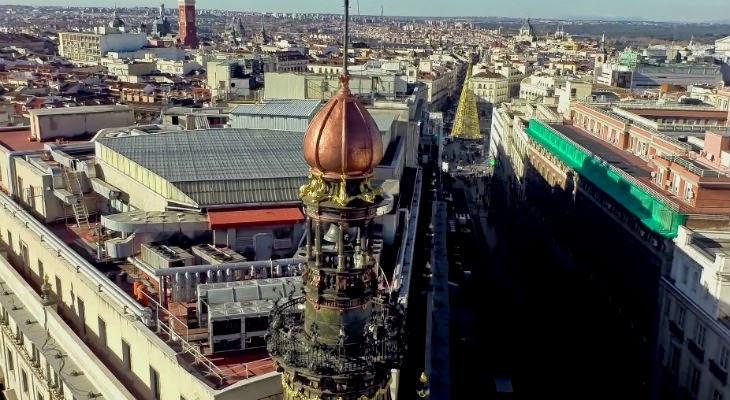 Gran vista de madrid desde el cielo gracias a un drone - Trabajo desde casa madrid ensobrando ...