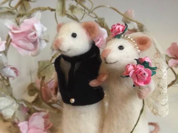 Wedding Mice Needle FeltedMice