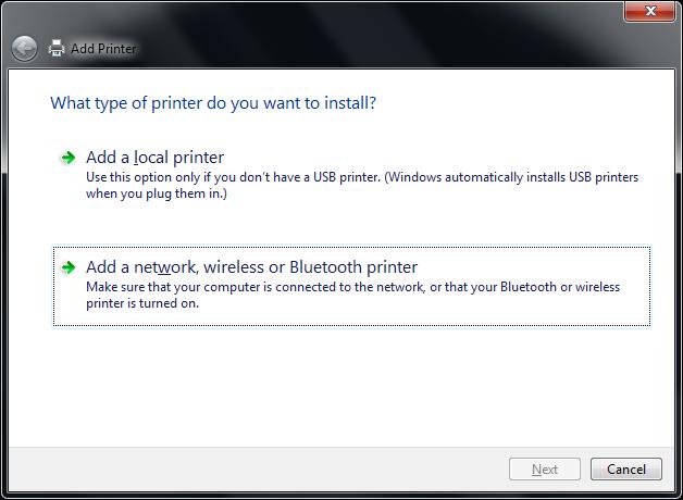 how to add network printer windows 7 64 bit