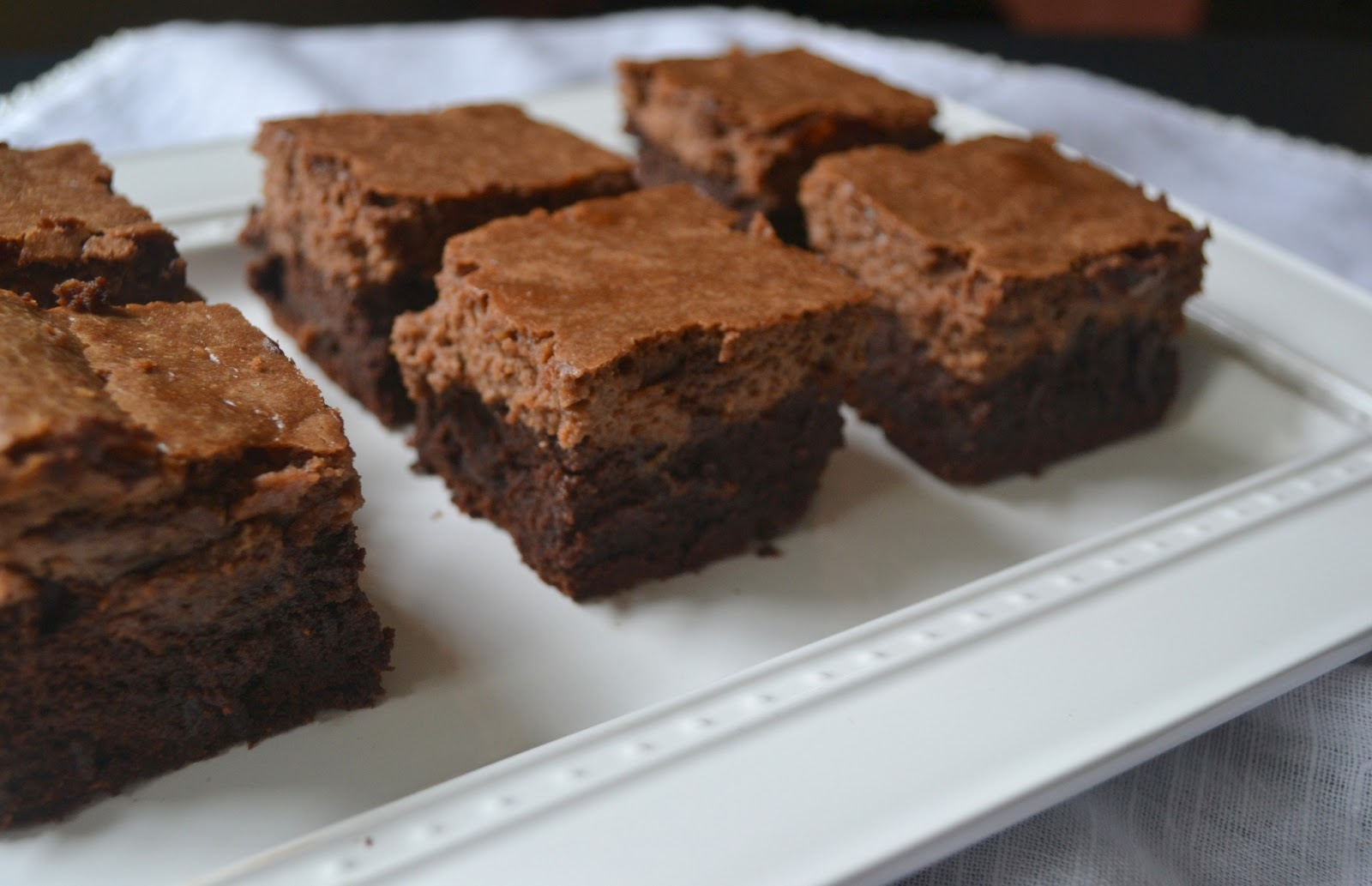 Nutella Cheesecake Brownies in a word? Decadent. Or delicious. Or ...