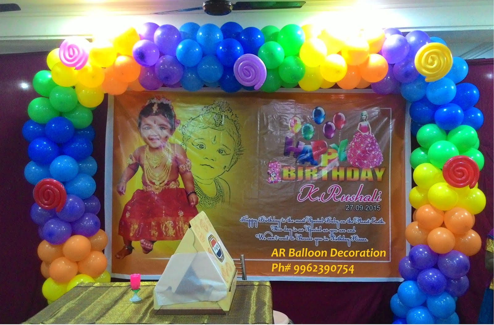 Balloon decorations name ceremony balloon decoration for Home decorations with balloons