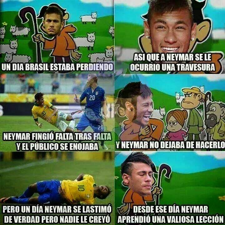 Humor La lesión de Neymar
