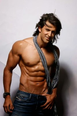 Hrithik Roshan Shirtless Pics, Hrithik Roshan's Unseen 8 Pack Abs body Pics