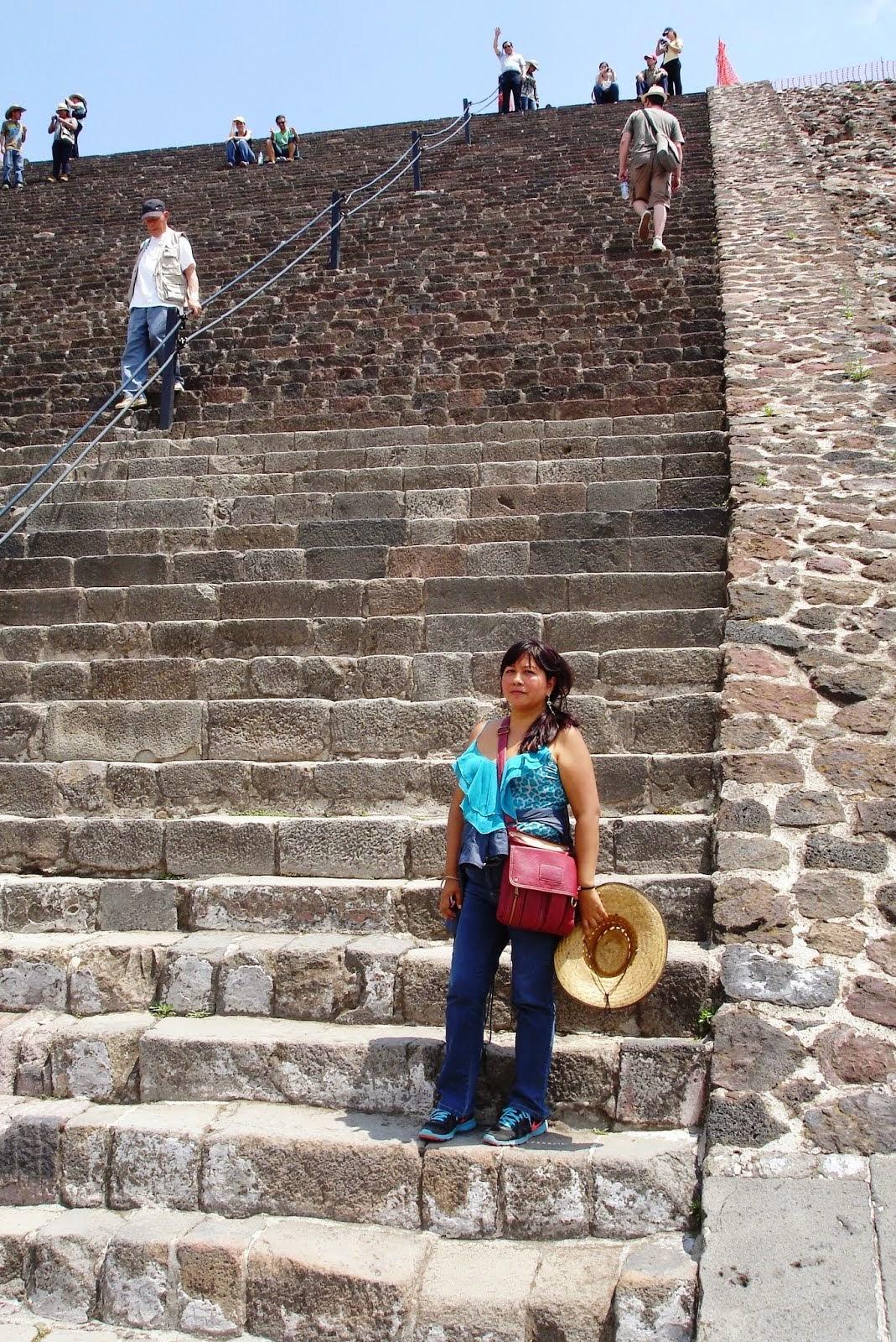 En las Pirámides de Teotihuacán, México