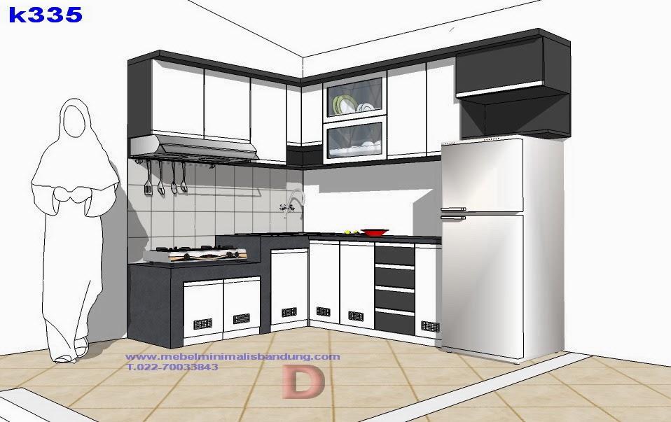 Dapur putih antapani mebel minimalis for Kitchen set putih