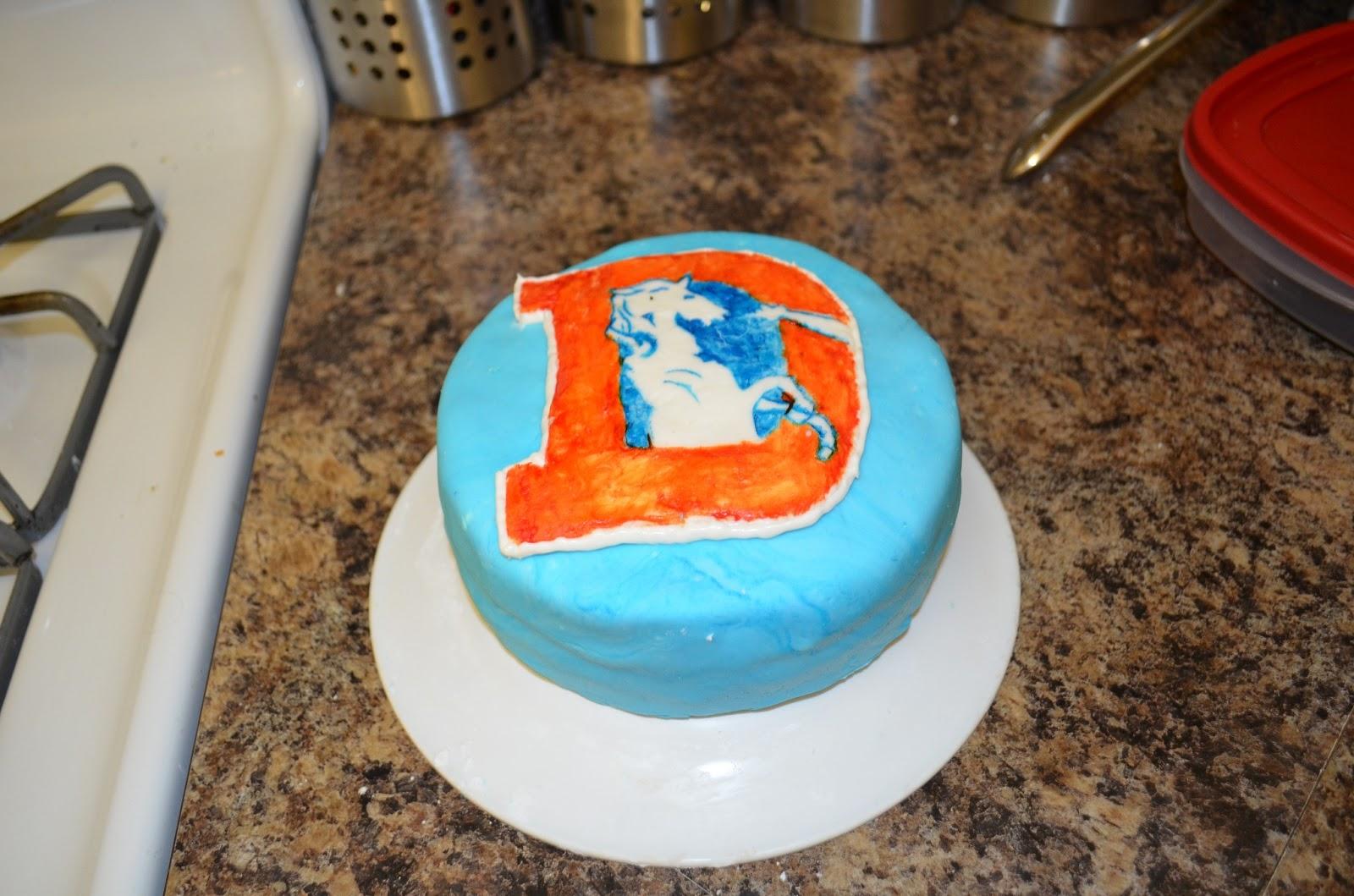 Sarahs Baked Goods Denver Broncos Birthday Cake May 2013