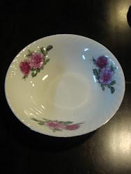 """Mangkuk Lauk Twin  Roses (Saiz 8"""")"""
