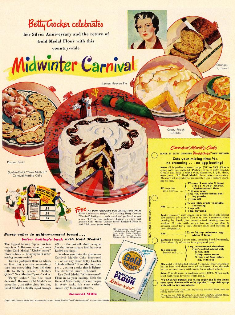 Old Betty Crocker Cake Recipes