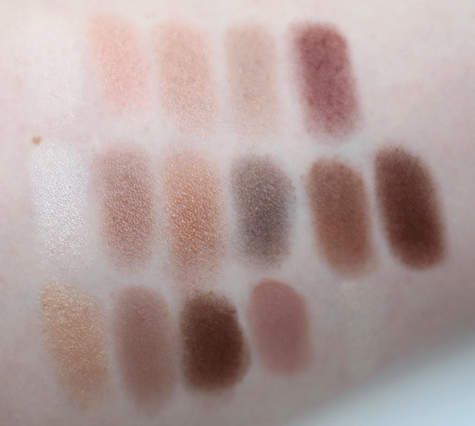 Swatches of Naked Chocolate palette