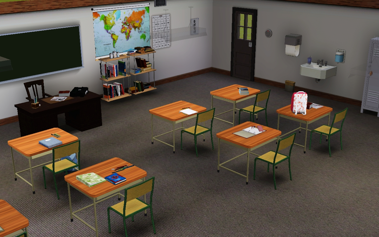 Jamee 39 s sims 3 school for story telling for Furniture 4 schools