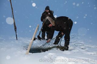 Проверка юнды. Остров Вайгач. Ненецкий автономный округ. Природа НАО.