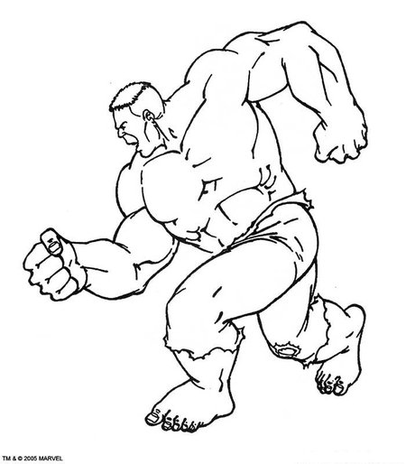 Avengers Coloring Pages Hulk : Free coloring pages of hulk