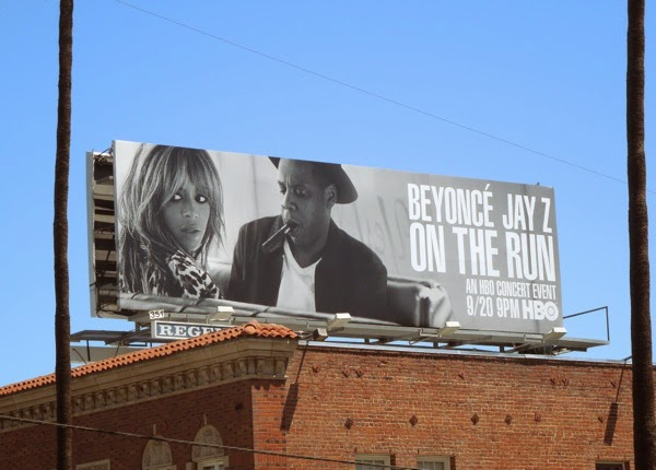 Beyoncé Jay Z On The Run HBO concert billboard