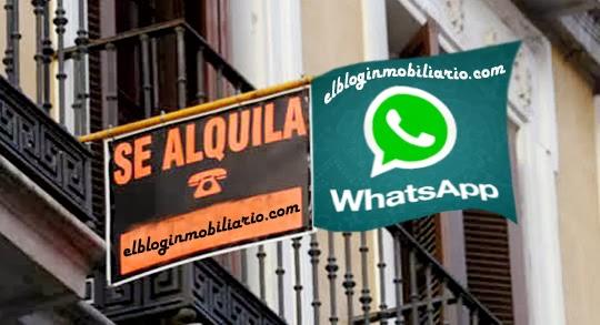 whatsapp venta o alquiler pisos, el blog inmobiliario.com