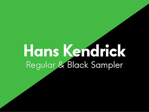 Hans Kendrick Regular & Bold – Free font