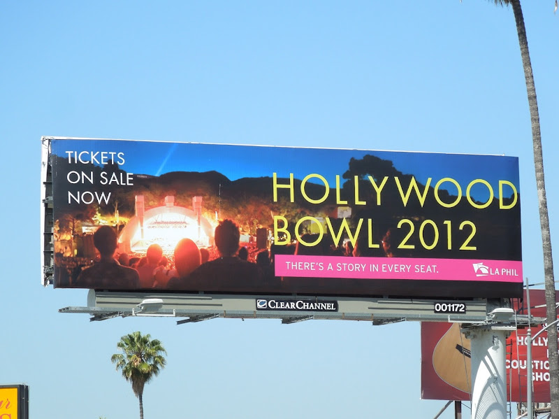 Hollywood Bowl 2012 billboard