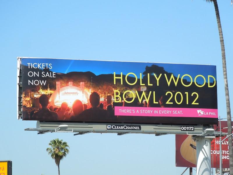 Hollywood Bowl 2012 billboard