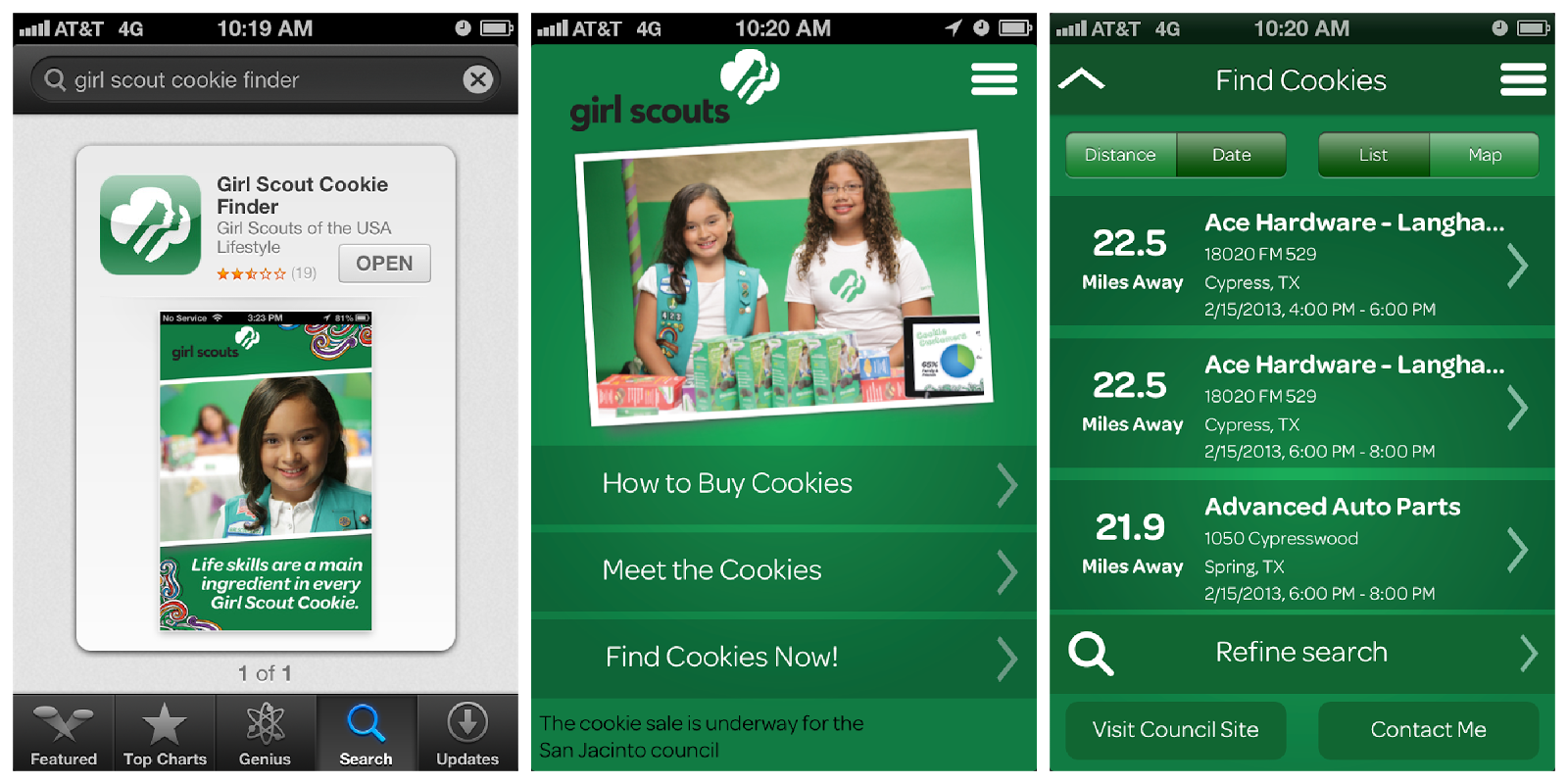 girl scout cookie finder mn The girl scouts® name and mark, and all associated trademarks and logotypes, including girl scout cookies®, thin mints®, trefoils®, girl.