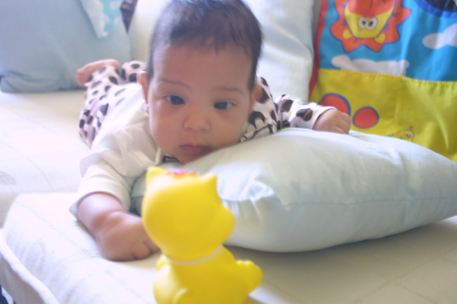 Magdelyn al d a los juguetes del bebe de 4 meses - Juguetes para bebes de 2 meses ...