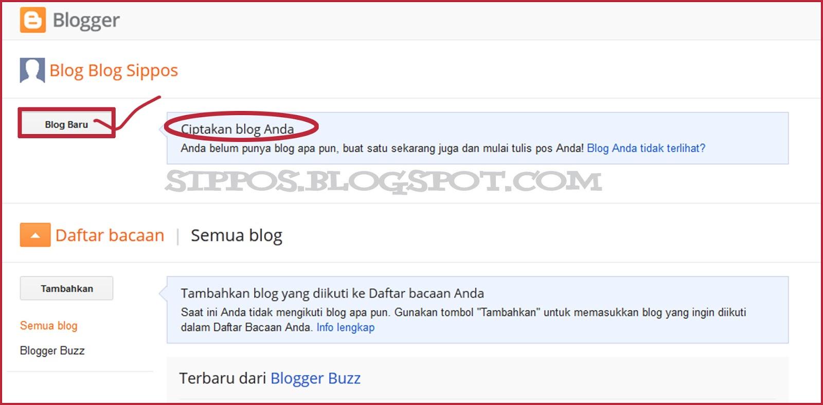 Tutorial Cara Membuat Blog di Blogger Blogspot Lengkap