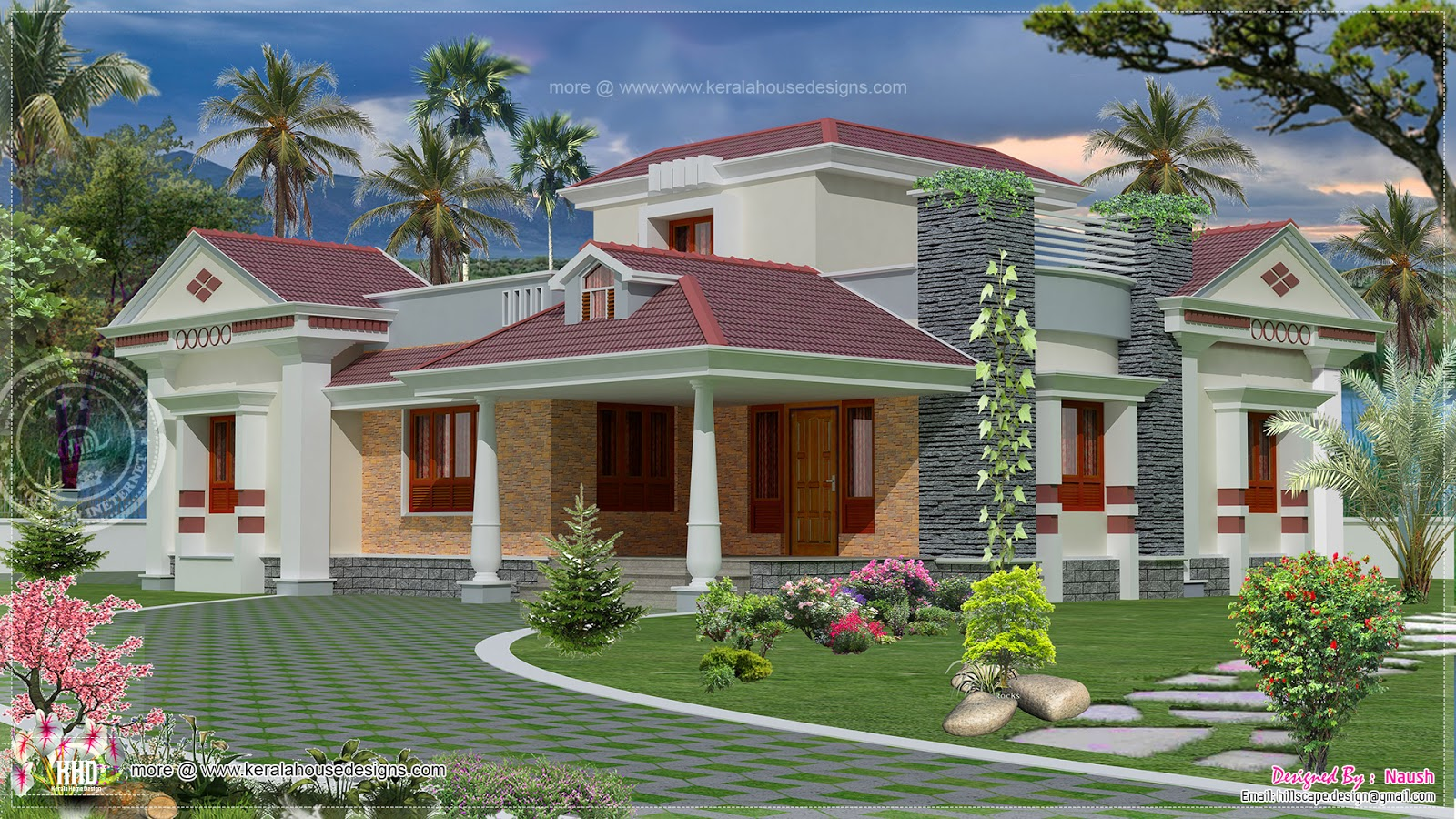 June 2014 home kerala plans for Kerala style single storey house plans