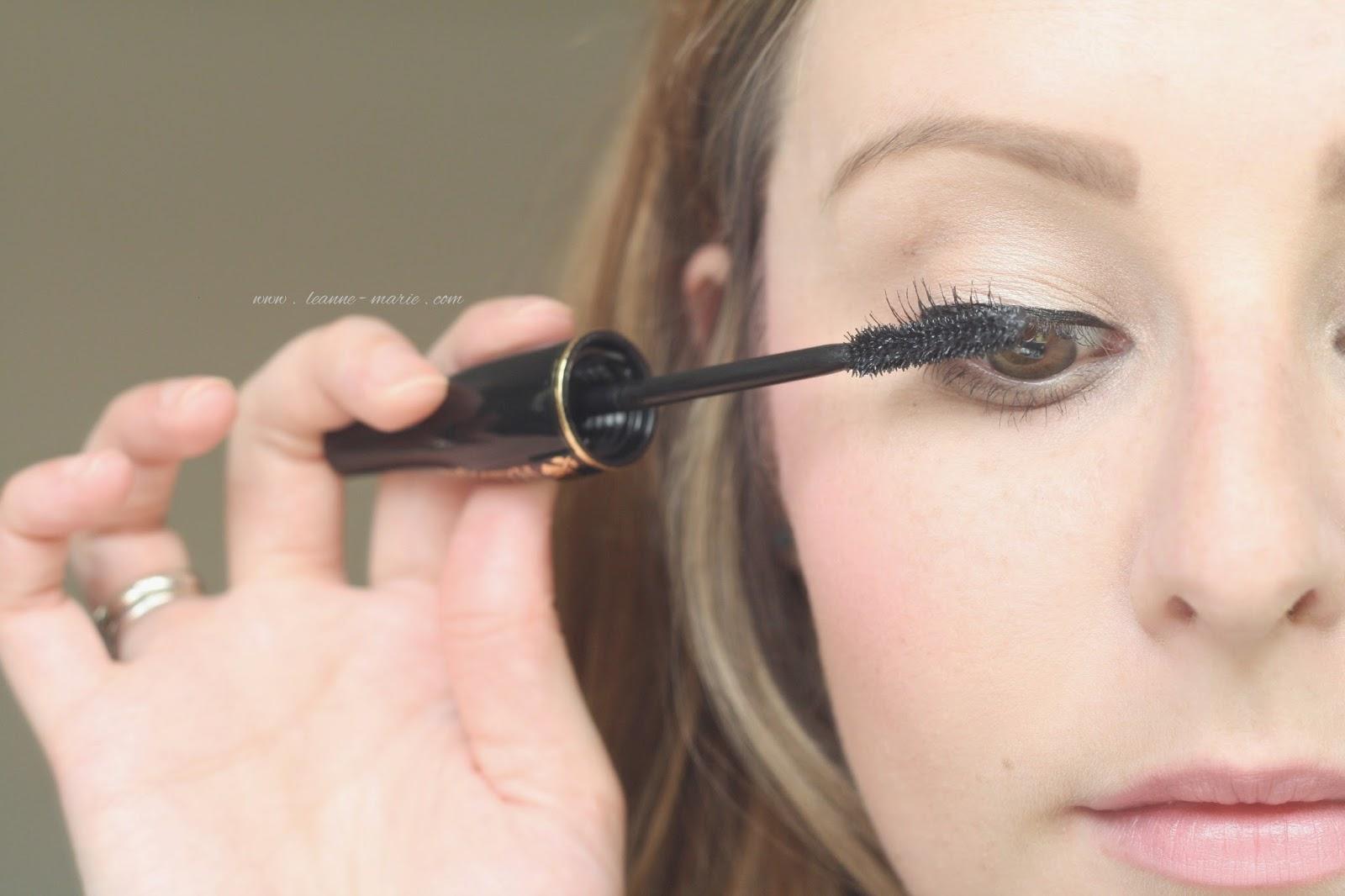 Applying-mascara-Lancome-Hypnose-Beauty-Blog