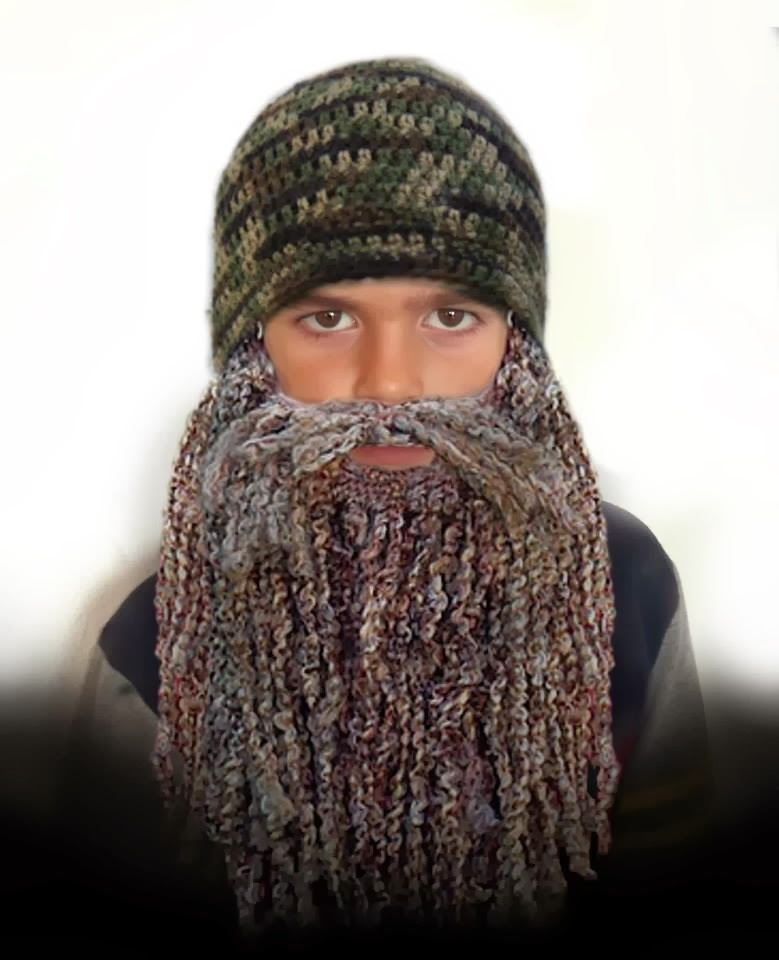 Free Crochet Patterns Hats With Beards : Cute Designs: Duck Dynasty Hat and Beard EASY CROCHET PATTERN
