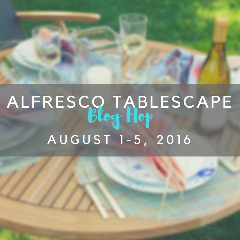 Alfresco Tablescape Blog Hop