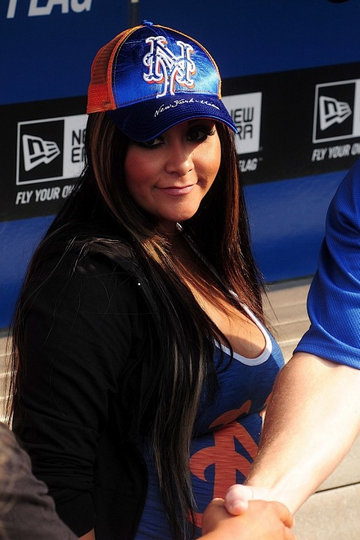 Snooki And Her Fiance Jionni LaValle Meet The New York Mets » Gossip | Snooki