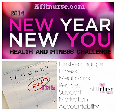 new year new you, afitnurse, 2014 fitness goals, 2014 challenge, weightless, clean eating, fitness support, fitness goals