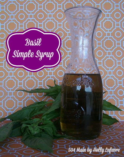 The subtle taste of the basil syrup adds a unique flavor.