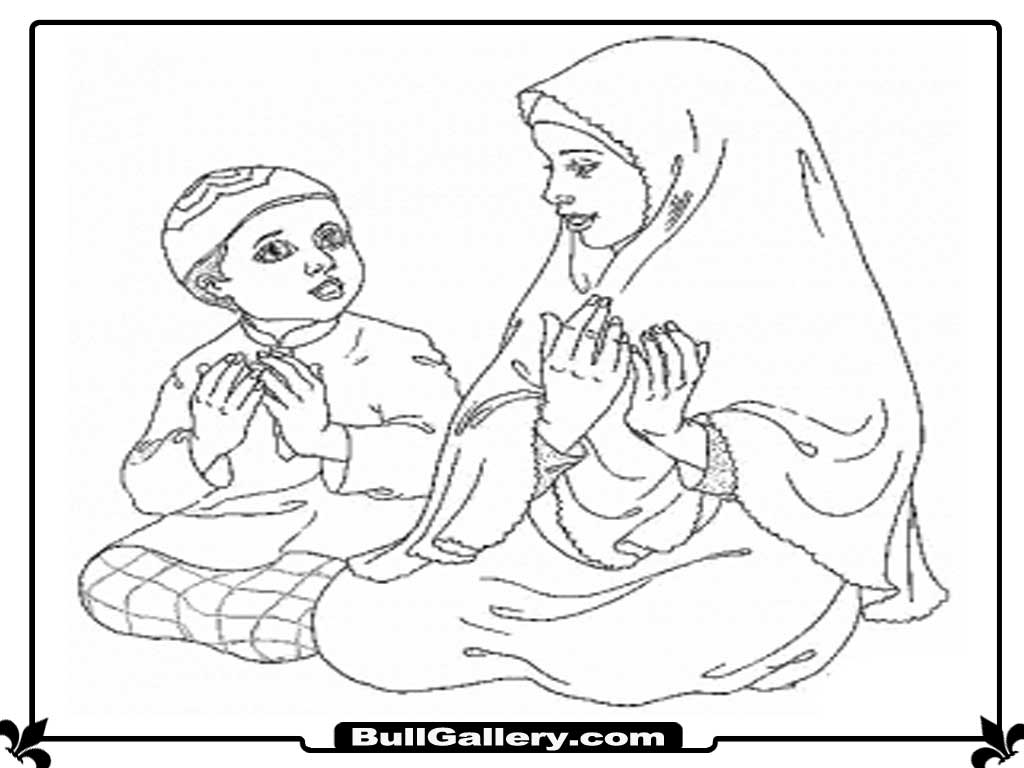 Free Coloring Pages Of Praying Child Child Praying Coloring Page