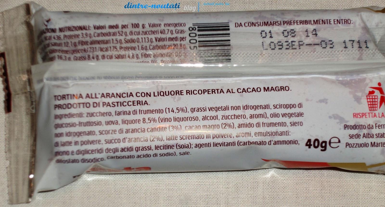 prăjitură din Italia cu cremă cu aromă de portocale 36G