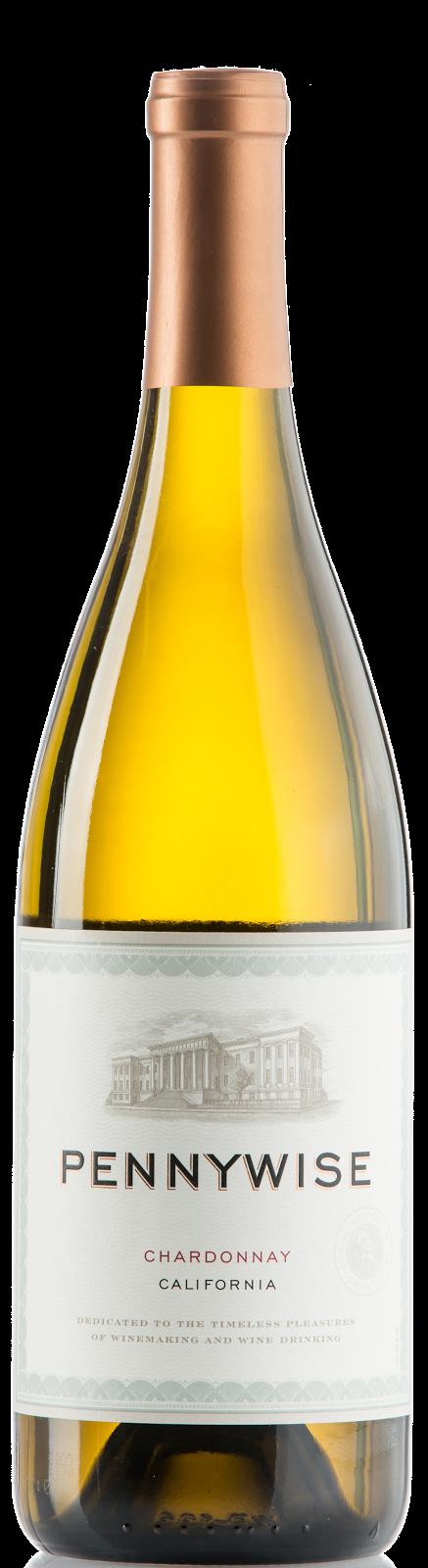 bottle of Pennywise Chardonnay