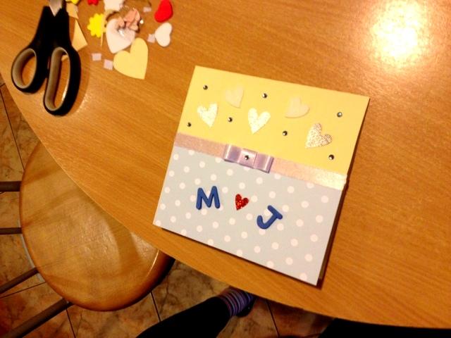 Własnoręcznie robiona Kartka weselna - Handmade Weeding Card